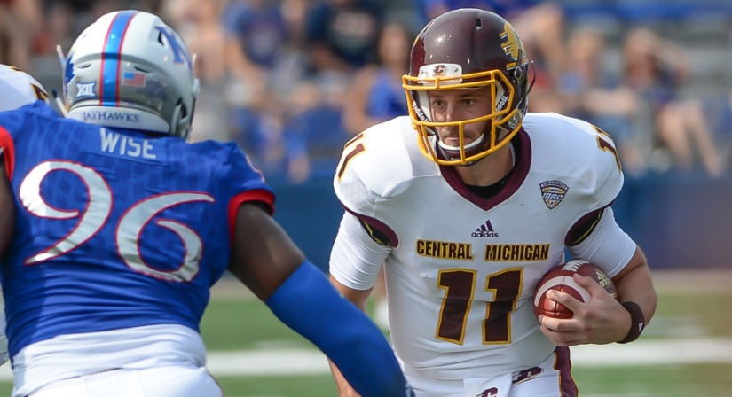 Central Michigan gets another Big XII win, this time at Kansas