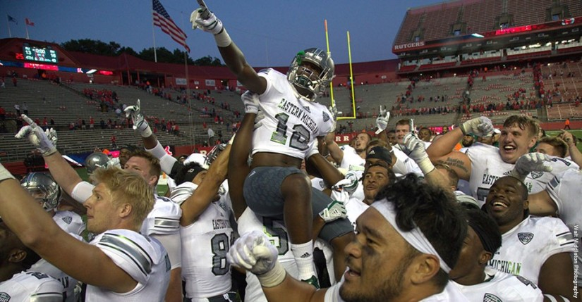 Eastern Michigan gets first B1G win, tops Rutgers on the road